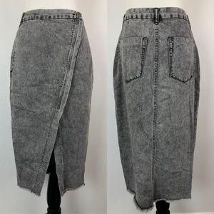 One Teaspoon Society Denim Wrap Skirt